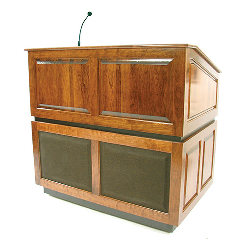AmpliVox Sound Systems Ambassador Lectern with Sound System (Natual Oak)