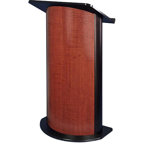 AmpliVox Sound Systems SS3145 Curved Color Panel Lectern with Sound System (Cherry)