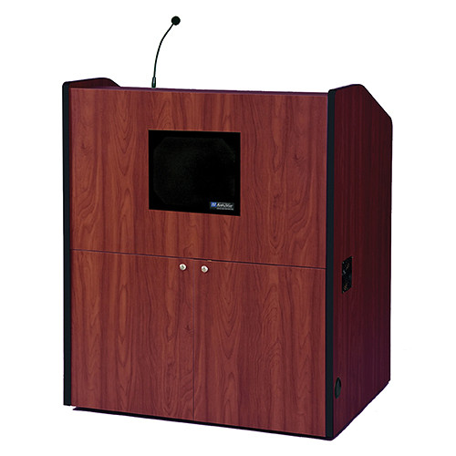 AmpliVox Sound Systems Multimedia Smart Podium with Sound System (Cherry)