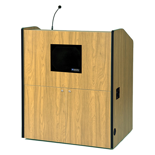 AmpliVox Sound Systems Multimedia Smart Podium with Sound System (Maple)