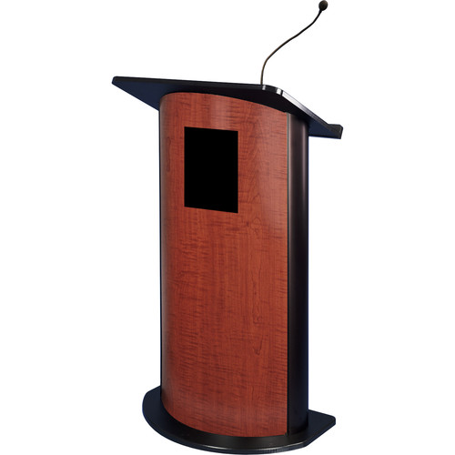 AmpliVox Sound Systems Contemporary Curved Panel Lectern with Sound