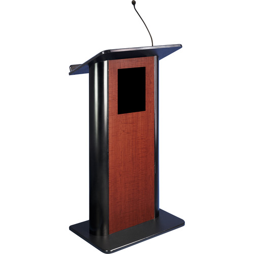 AmpliVox Sound Systems Contemporary Flat Panel Lectern with Sound