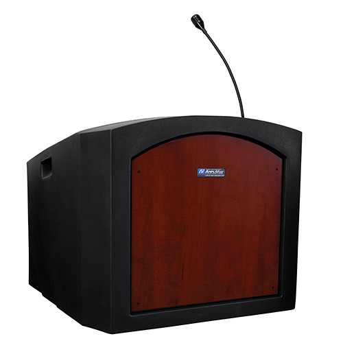 AmpliVox Sound Systems Pinnacle Tabletop Lectern with Mic (Mahogany)
