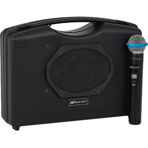 AmpliVox Sound Systems SW223A Wireless Audio Portable Speaker with Wireless Handheld Mic