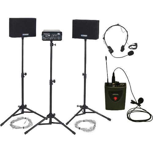AmpliVox Sound Systems Voice Carrier Wired Speakers & Wireless Mics