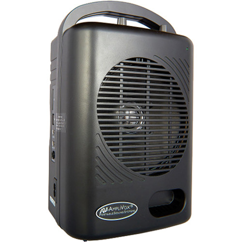 AmpliVox Sound Systems SW245 Power Pod PA Portable All-In-One PA System with Three Microphones