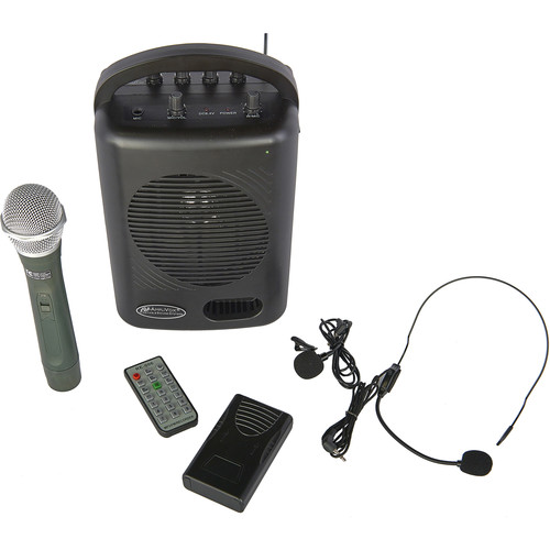 AmpliVox Sound Systems SW245B Bluetooth Dual Audio Pal System with Dual-Channel VHF Wireless System (165 to 265 MHz)