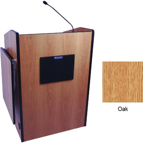 AmpliVox Sound Systems SW3235-OK Wireless Multimedia Presentation Podium (Oak)