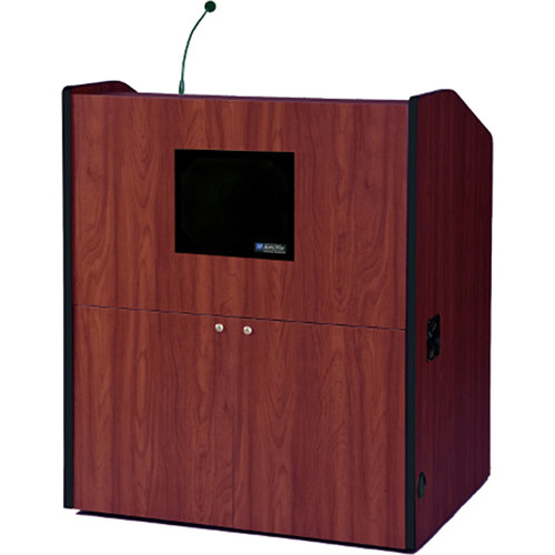 AmpliVox Sound Systems SW3430-MH Wireless Multimedia Smart Podium (Mahogany)