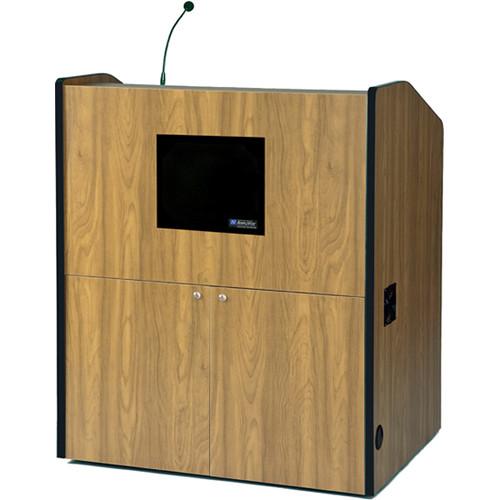 AmpliVox Sound Systems SW3430-OK Wireless Multimedia Smart Podium (Oak)