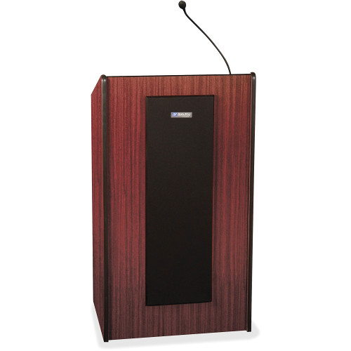 AmpliVox Sound Systems SW450 Presidential Plus Lectern with Wireless Microphone (Mahogany)