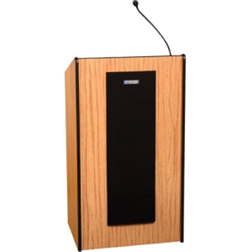 AmpliVox Sound Systems SW450 Presidential Plus Lectern with Wireless Microphone (Medium Oak)