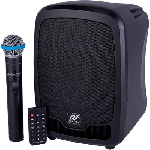 AmpliVox Sound Systems SW725 Portable Bluetooth- and Wireless-Enabled 36W PA System with Wired and Wireless Handheld Microphones