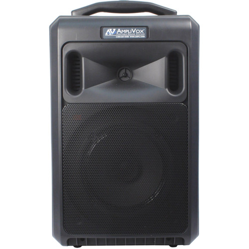 AmpliVox Sound Systems SW800L Titan Wireless Portable PA System with Wireless Lapel Microphone