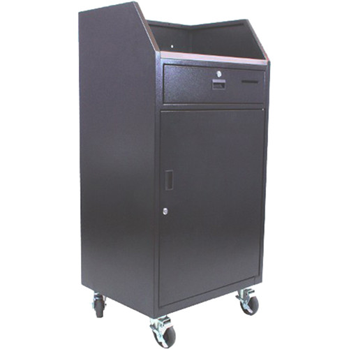 AmpliVox Sound Systems Portable Valet Podium (100 Key Capacity)