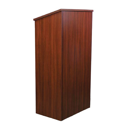 AmpliVox Sound Systems One-Piece Full Height Wood Lectern (Mahogany Veneer)