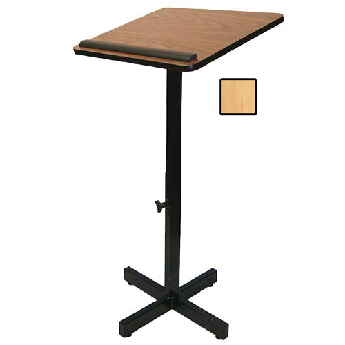 AmpliVox Sound Systems Xpediter Adjustable Lectern Stand (Maple)