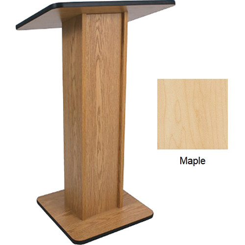 AmpliVox Sound Systems Elite Pedestal Lectern (Maple)