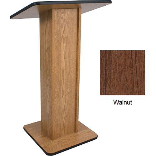AmpliVox Sound Systems Elite Pedestal Lectern (Walnut)