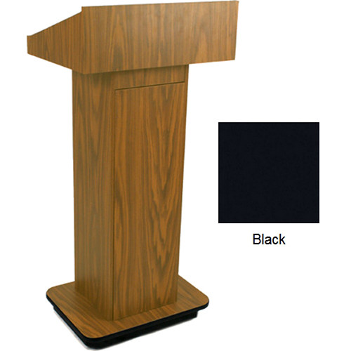 AmpliVox Sound Systems W505 Executive Non-Sound Column Lectern (Black)