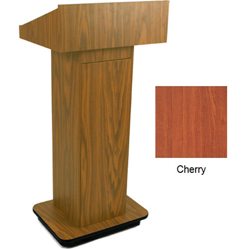 AmpliVox Sound Systems W505 Executive Non-Sound Column Lectern (Cherry)