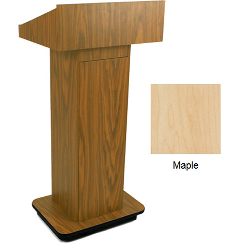 AmpliVox Sound Systems W505 Executive Non-Sound Column Lectern (Maple)