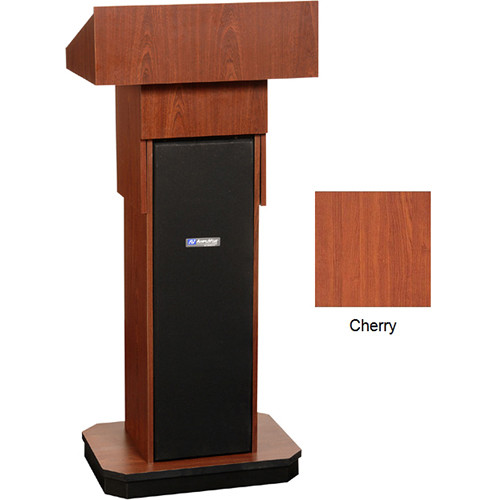 AmpliVox Sound Systems W505A Executive Adjustable Non-Sound Column Lectern (Cherry)