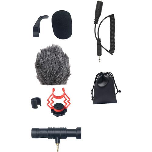 Ampridge MightyMic F Ultracompact Camera-/Phone-Mount Shotgun Microphone