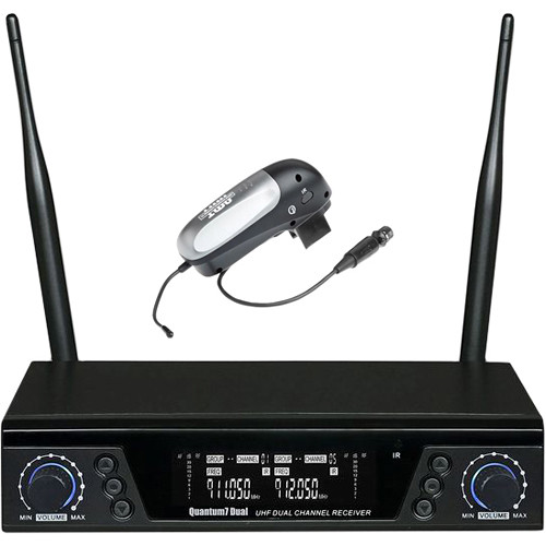 AMT Q7 DUAL 1T Quantum 7 Dual Wireless Receiver and Single Instrument Transmitter (No Mic, 900 MHz)