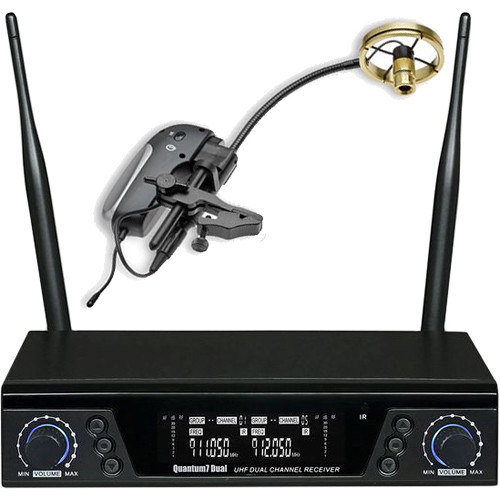 AMT Q7-P808 Dual-Channel Q7 Receiver and Single Transmitter Wireless System for Trombone (Bell-Mounted, 900 MHz)