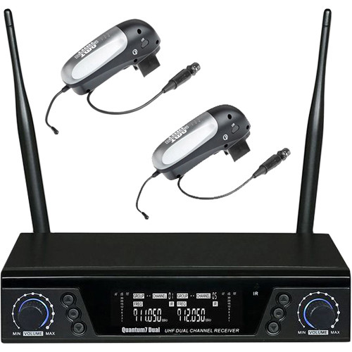 AMT Dual Channel Wireless System for AMT Microphones (2-Q7C Transmitters)