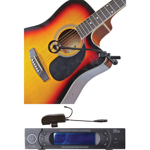AMT S15-5C Clip-On Acoustic Guitar Microphone with Wi5IIC Wireless System