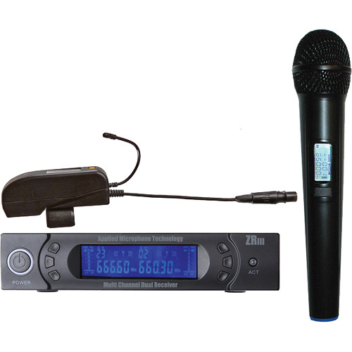 AMT 5V Handheld Microphone, 5C Transmitter, and ZRIII Dual Receiver