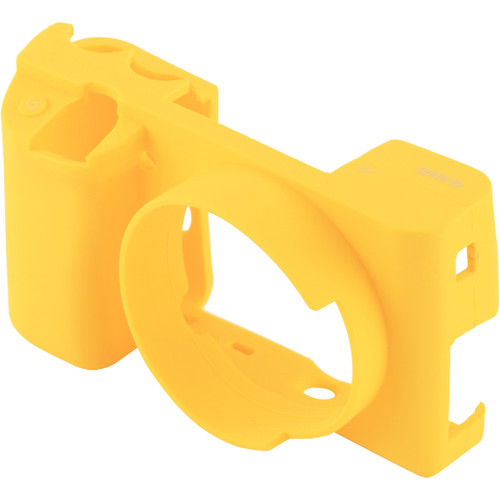 Amzer Soft Silicone Protective Case for Sony ILCE-6000 (Yellow)