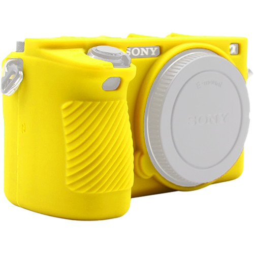 Amzer Soft Silicone Protective Case for Sony ILCE-6500 (Yellow)