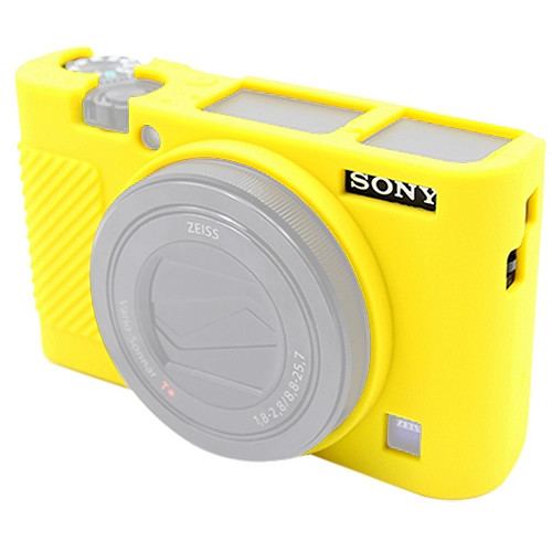 Amzer Soft Silicone Protective Case for Sony RX100 III/IV/V (Yellow)