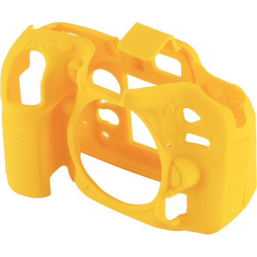 Amzer Soft Silicone Protective Case for Nikon D7200 /D7100 (Yellow)