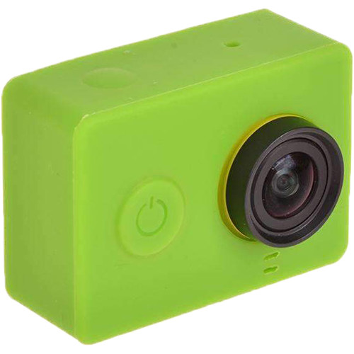 Amzer Silicone Gel Protective Case For Xiaomi Yi Sport Camera (Green)