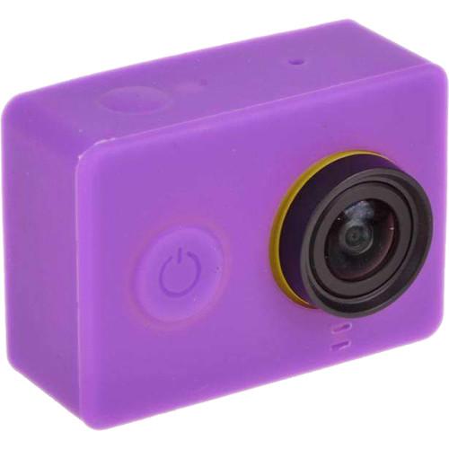 Amzer Silicone Gel Protective Case For Xiaomi Yi Sport Camera - Purple