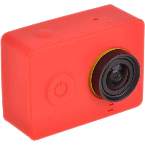 Amzer Silicone Gel Protective Case For Xiaomi Yi Sport Camera (Red)