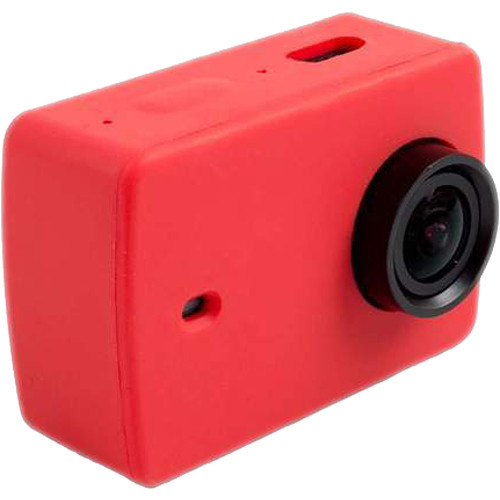 Amzer Silicone Housing Protective Case Cover Shell For Xiaomi Xiaoyi Yi II Sport Action Camera (Red)