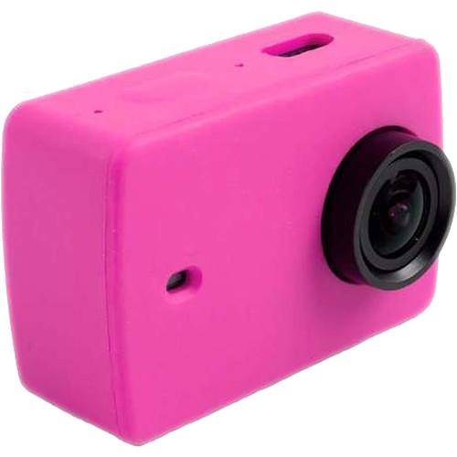 Amzer Silicone Housing Protective Case Cover Shell For Xiaomi Xiaoyi Yi II Sport Action Camera (Magenta)