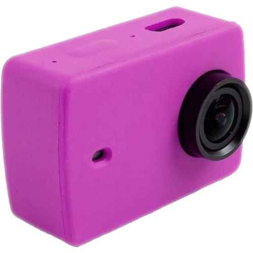 Amzer Silicone Housing Protective Case Cover Shell For Xiaomi Xiaoyi Yi II Sport Action Camera - Purple