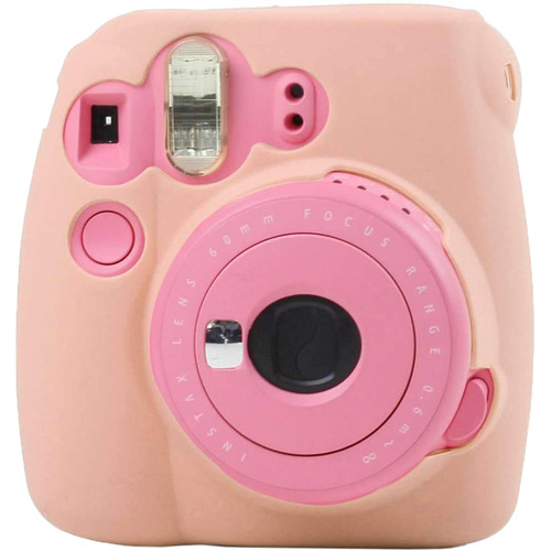Amzer Fluorescent Soft Silicone Protective Case for INSTAX Mini 8, 8+, 9 (Pink)