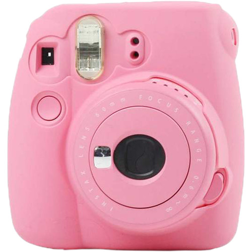 Amzer Fluorescent Soft Silicone Protective Case for INSTAX Mini 8, 8+, 9 (Rose Red)