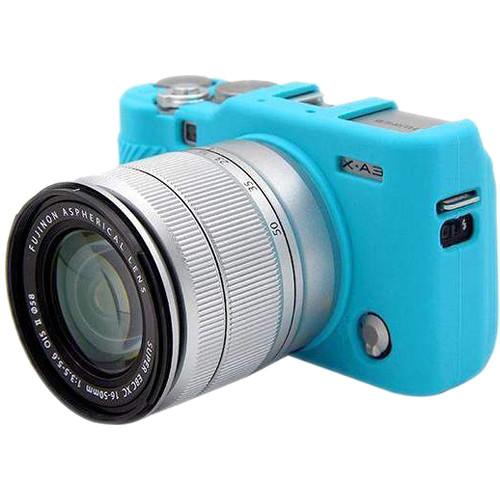 Amzer Soft Silicone Protective Case for Fujifilm X-A3, X-A10 (Blue)