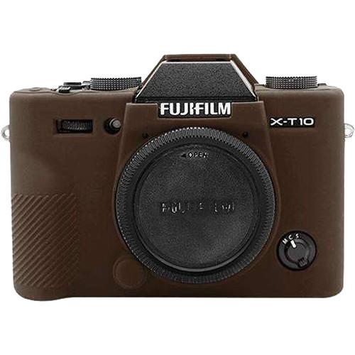 Amzer Soft Silicone Protective Case for Fujifilm X-T10 (Coffee)