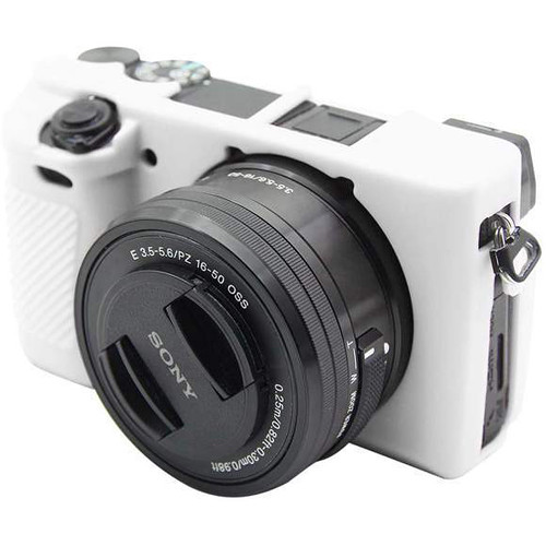 Amzer Soft Silicone Protective Case for Sony ILCE-6300 (White)