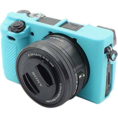 Amzer Soft Silicone Protective Case for Sony ILCE-6300 (Blue)