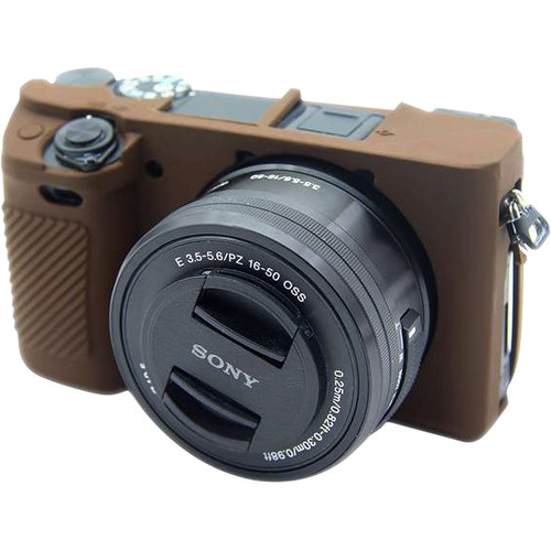 Amzer Soft Silicone Protective Case for Sony ILCE-6300 (Coffee)
